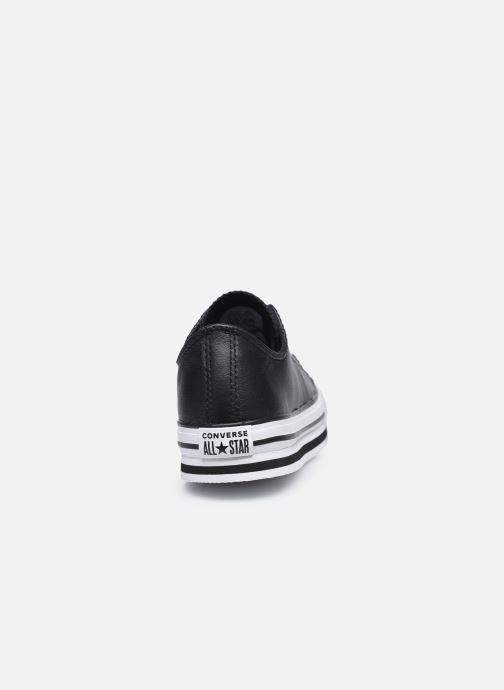 Sneaker Converse Chuck Taylor All Star Platform EVA Leather Ox schwarz ansicht von rechts