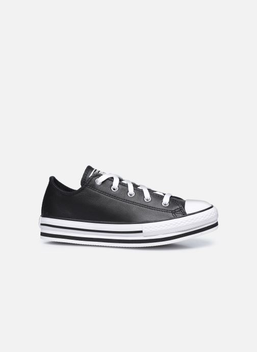 Baskets Converse Chuck Taylor All Star Platform EVA Leather Ox Noir vue derrière