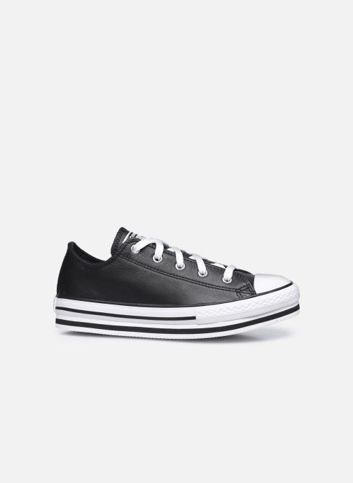 Sneaker Converse Chuck Taylor All Star Platform EVA Leather Ox schwarz ansicht von hinten
