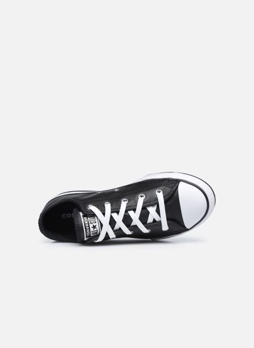 Sneaker Converse Chuck Taylor All Star Platform EVA Leather Ox schwarz ansicht von links