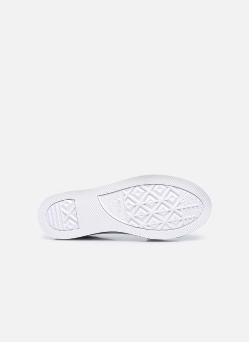 Sneaker Converse Chuck Taylor All Star Platform EVA Leather Ox schwarz ansicht von oben