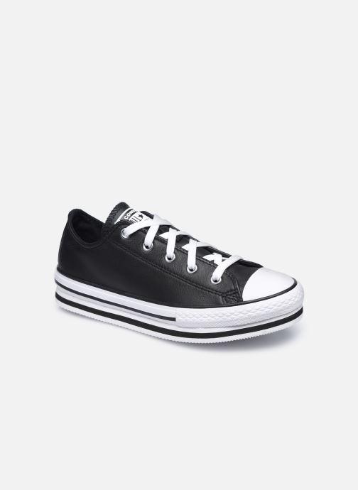 Sneaker Converse Chuck Taylor All Star Platform EVA Leather Ox schwarz detaillierte ansicht/modell