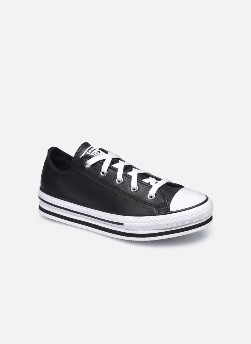 Baskets Converse Chuck Taylor All Star Platform EVA Leather Ox Noir vue détail/paire
