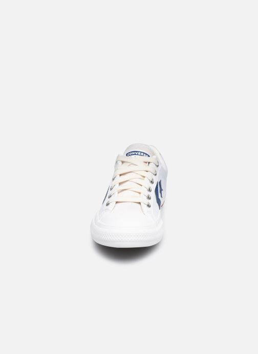 Sneaker Converse Star Player EV Hack to School Ox weiß schuhe getragen