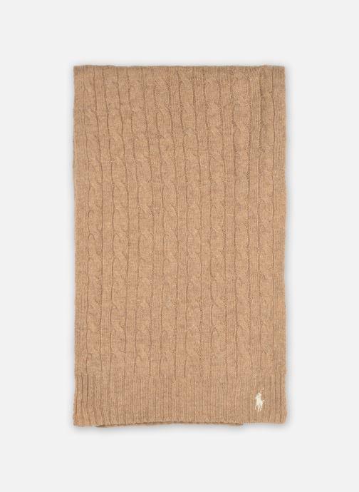 Sjaal Polo Ralph Lauren WOOL CASHME-OBLONG SCARF Bruin detail