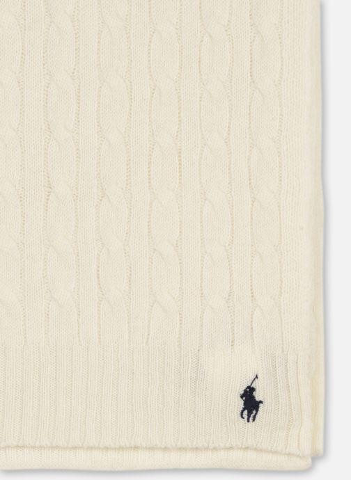 Sjaal Polo Ralph Lauren WOOL CASHME-OBLONG SCARF Wit model