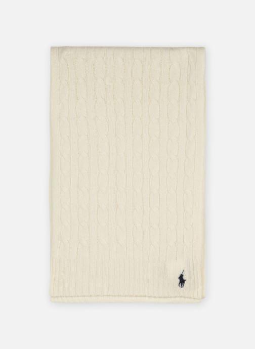 Sjaal Polo Ralph Lauren WOOL CASHME-OBLONG SCARF Wit detail