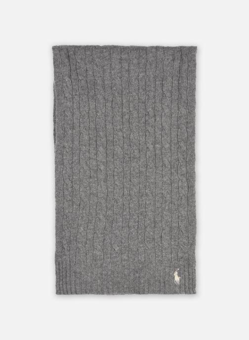 Sjaal Polo Ralph Lauren WOOL CASHME-OBLONG SCARF Grijs detail