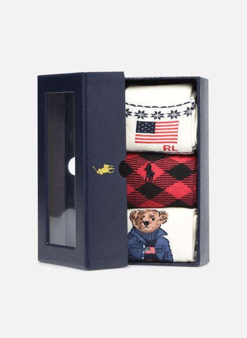 Socken & Strumpfhosen Polo Ralph Lauren GIFT BOX3-SOCKS weiß schuhe getragen