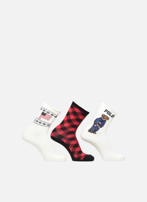 Socken & Strumpfhosen Polo Ralph Lauren GIFT BOX3-SOCKS weiß detaillierte ansicht/modell