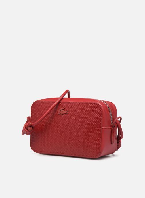 Handtaschen Lacoste Chantaco Square Crossover Bag weinrot schuhe getragen