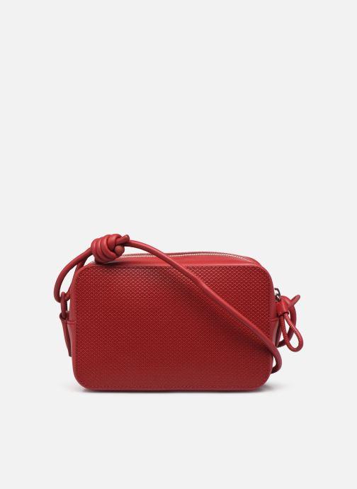 Handtaschen Lacoste Chantaco Square Crossover Bag weinrot ansicht von vorne