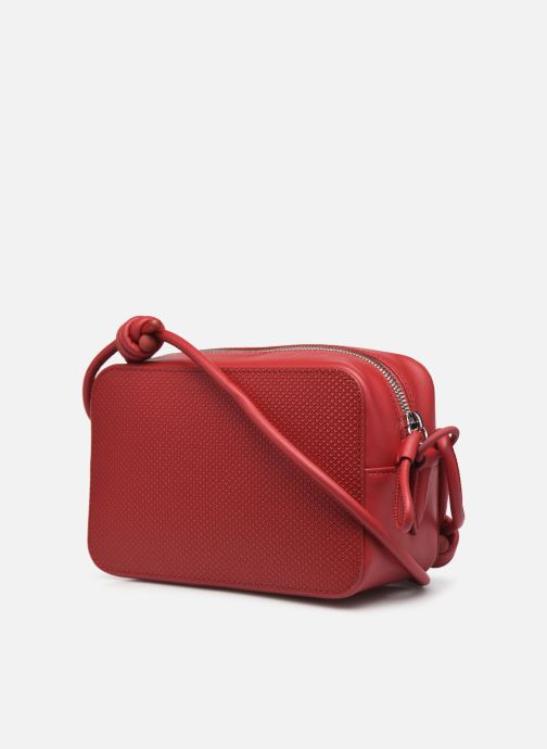 Handtaschen Lacoste Chantaco Square Crossover Bag weinrot ansicht von rechts