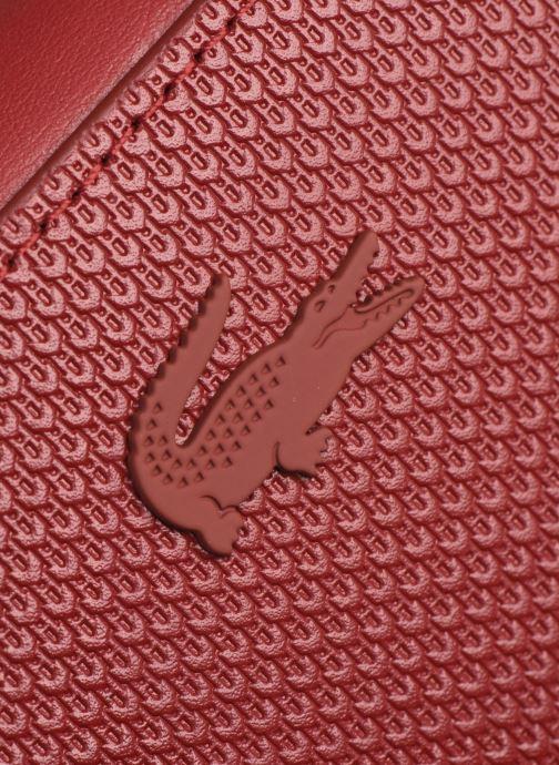 Handtaschen Lacoste Chantaco Square Crossover Bag weinrot ansicht von links