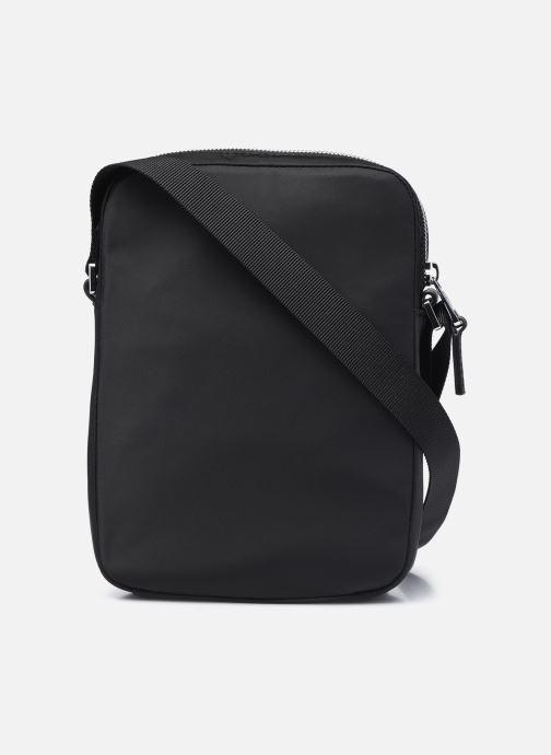 Herrentaschen Lacoste L.12.12 Cuir Animation M Vertical Camera Bag schwarz ansicht von vorne