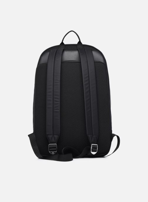 Mochilas Lacoste L.12.12 Cuir Animation Square Backpack Negro vista de frente