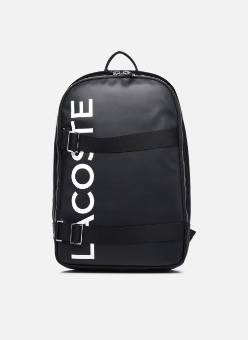 Mochilas Lacoste L.12.12 Cuir Animation Square Backpack Negro vista de detalle / par