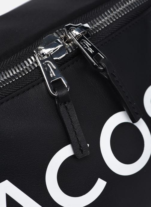 Herrentaschen Lacoste L.12.12 Cuir Animation Waistbag schwarz ansicht von links