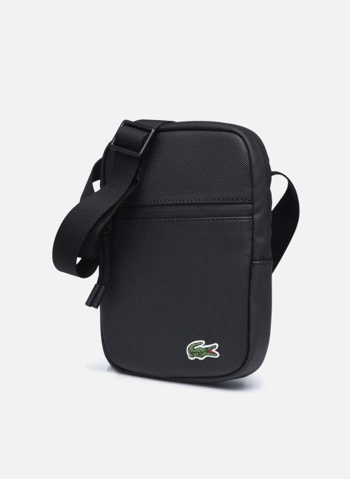 Herrentaschen Lacoste Lcst S Flat Crossover Bag schwarz schuhe getragen