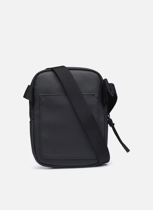 Herrentaschen Lacoste Lcst S Flat Crossover Bag schwarz ansicht von vorne