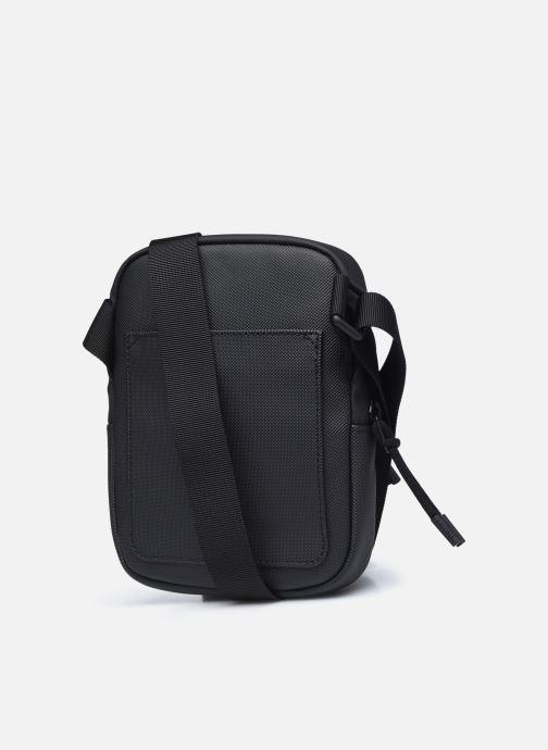 Herrentaschen Lacoste Lcst S Flat Crossover Bag schwarz ansicht von rechts