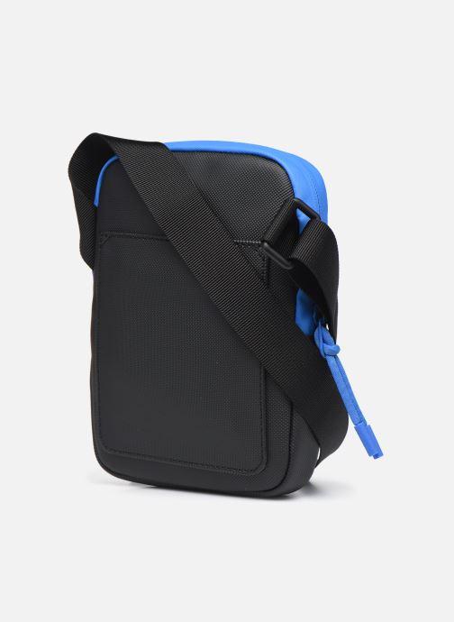 Bolsos de hombre Lacoste Lcst S Flat Crossover Bag Azul vista lateral derecha