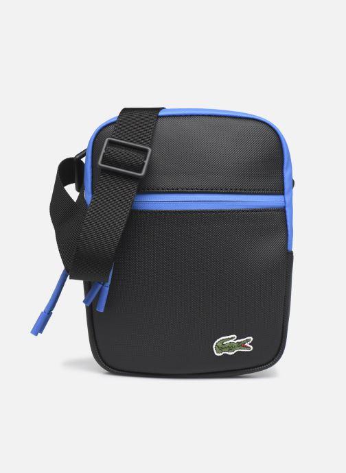 Bolsos de hombre Lacoste Lcst S Flat Crossover Bag Azul vista de detalle / par