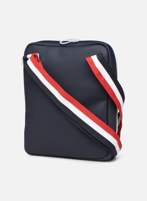 Sacs homme Lacoste Men'S Classic Seasonal Crossover Bag Bleu vue droite