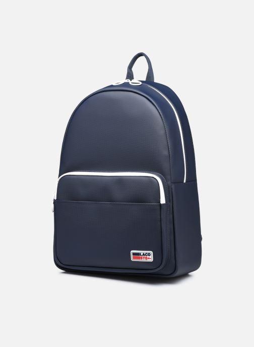 Rucksäcke Lacoste Men'S Classic Seasonal Backpack blau schuhe getragen