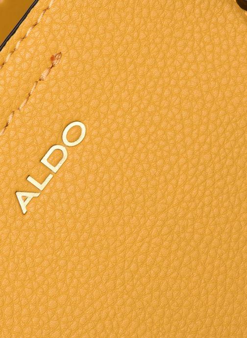 Handtaschen Aldo GLAMM gelb ansicht von links