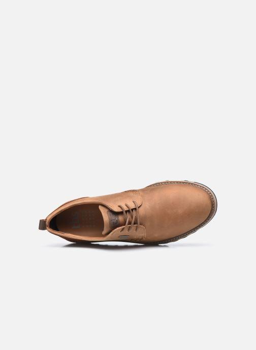 Zapatos con cordones TBS Hastiin Marrón vista lateral izquierda