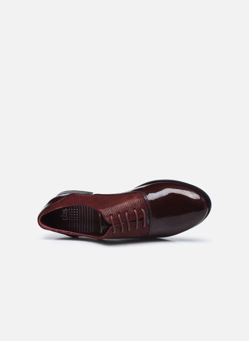 Zapatos con cordones TBS Madelle Vino vista lateral izquierda