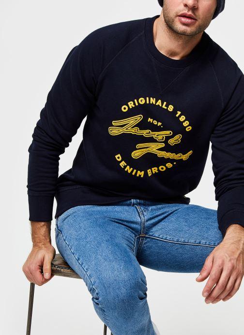 Vêtements Jack & Jones Jorreuben Sweat Crew Neck Bleu vue détail/paire