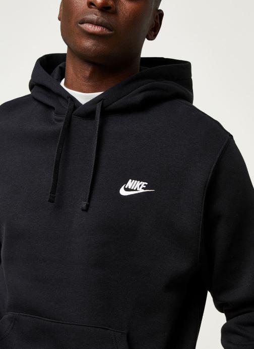 Vêtements Nike M Nsw Club Hoodie Po Bb Noir vue face