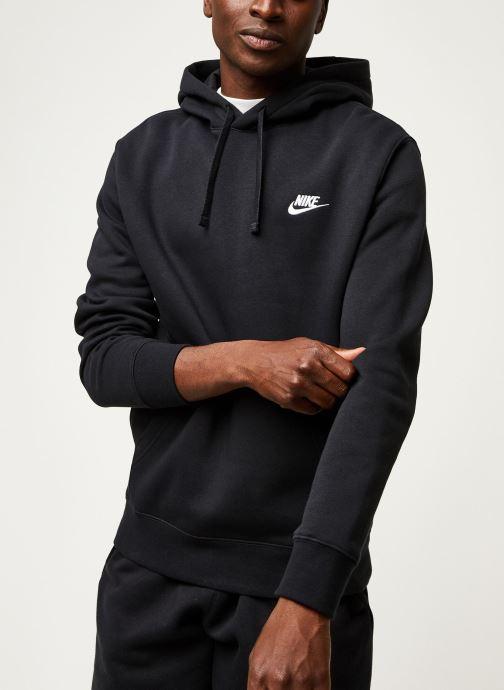 Vêtements Nike M Nsw Club Hoodie Po Bb Noir vue droite
