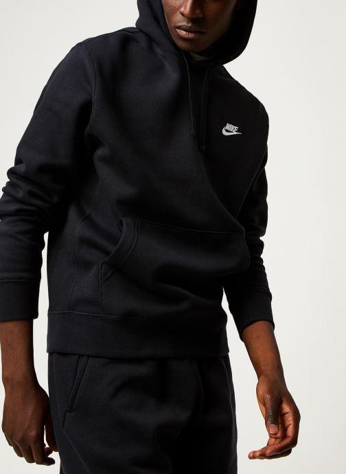 Vêtements Nike M Nsw Club Hoodie Po Bb Noir vue détail/paire