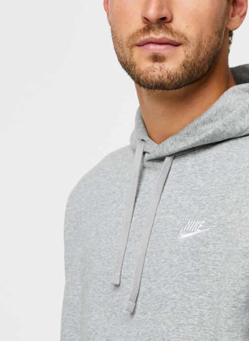 Vêtements Nike M Nsw Club Hoodie Po Bb Gris vue face