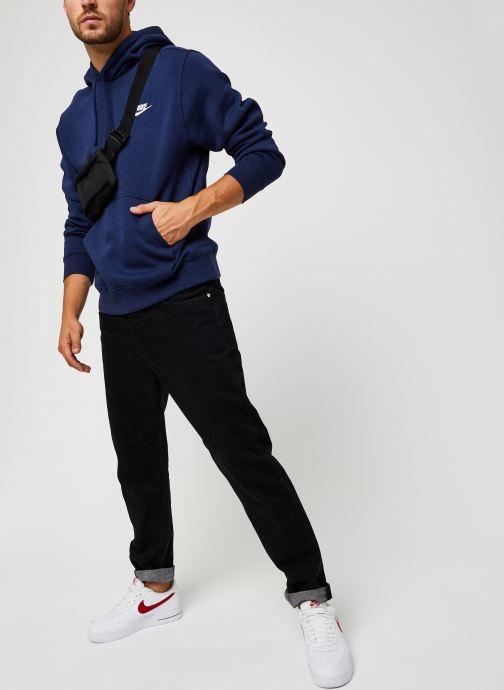 Vêtements Nike M Nsw Club Hoodie Po Bb Bleu vue bas / vue portée sac