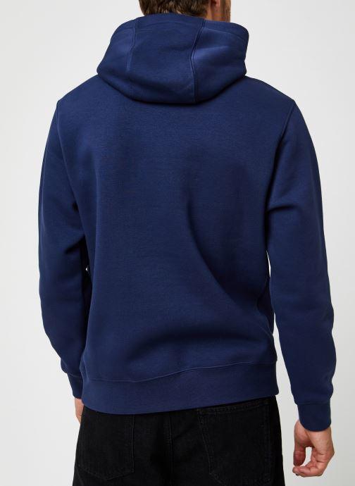 Vêtements Nike M Nsw Club Hoodie Po Bb Bleu vue portées chaussures