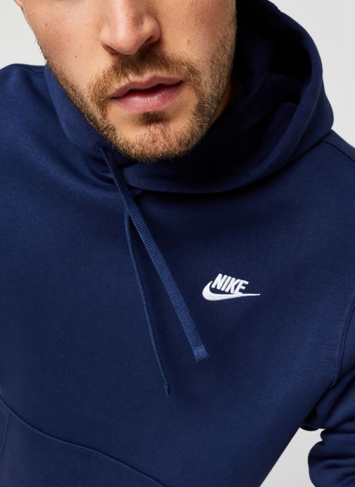 Vêtements Nike M Nsw Club Hoodie Po Bb Bleu vue face