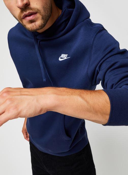 Vêtements Nike M Nsw Club Hoodie Po Bb Bleu vue détail/paire