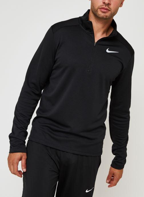 Kleding Nike M Nk Df Pacer Top Hz Zwart detail