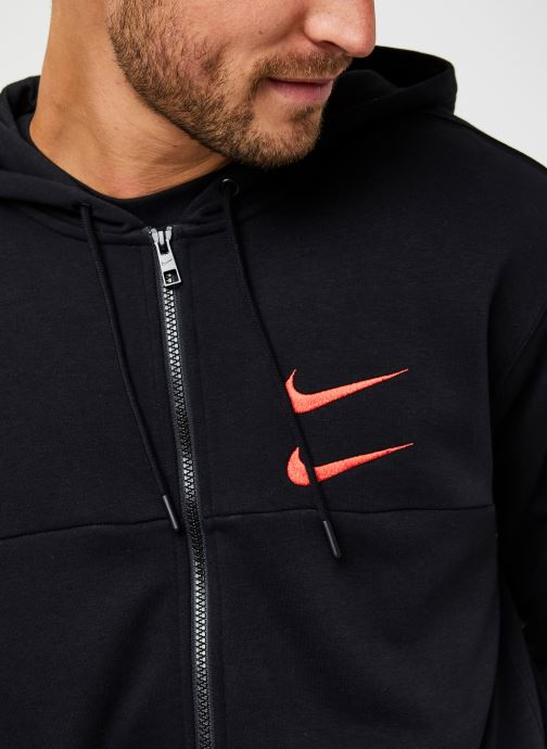 Vêtements Nike M Nsw Swoosh Hoodie Fz Sbb Noir vue face