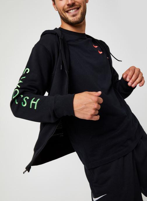 Vêtements Nike M Nsw Swoosh Hoodie Fz Sbb Noir vue détail/paire