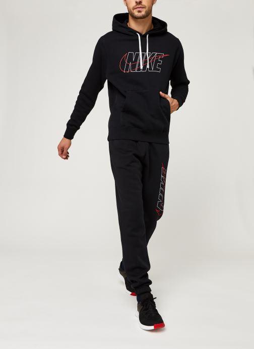 Vêtements Nike M Nsw Ce Trk Suit Hd Flc Gx Noir vue bas / vue portée sac