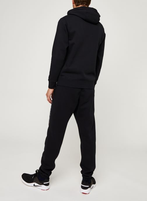Vêtements Nike M Nsw Ce Trk Suit Hd Flc Gx Noir vue portées chaussures