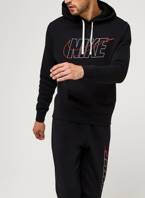 Vêtements Nike M Nsw Ce Trk Suit Hd Flc Gx Noir vue droite