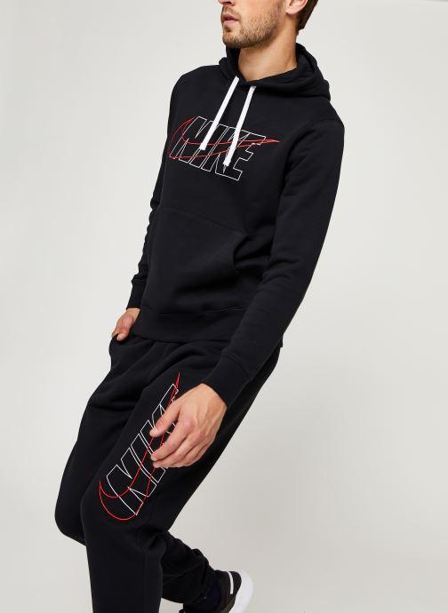 Vêtements Nike M Nsw Ce Trk Suit Hd Flc Gx Noir vue détail/paire