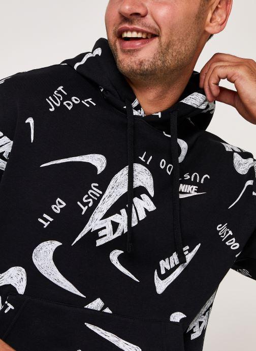 Vêtements Nike M Nsw Club Hoodie Po Bb Aop 1 Noir vue face