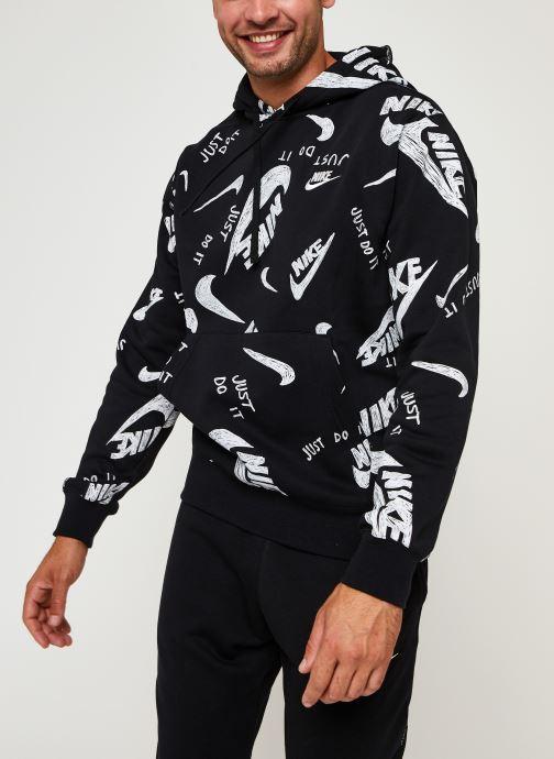 Vêtements Nike M Nsw Club Hoodie Po Bb Aop 1 Noir vue droite